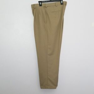 Haggar Tan Men's Pleated Front Dress Pants 42/30
